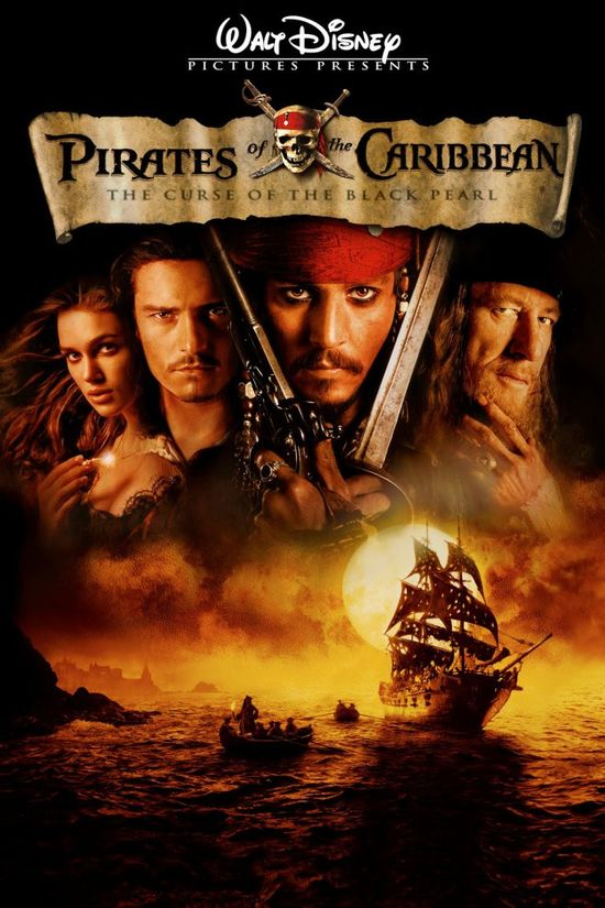 Pirates of the Caribbean. The Curse of the Black Pearl Movie Poster, 2003