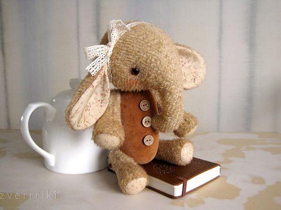 Pattern to create Teddy like Elefant Sasha Beige grey by zverrriki