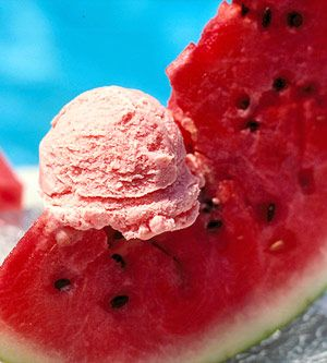 Watermelon Sherbet - refreshing on a hot summer day.