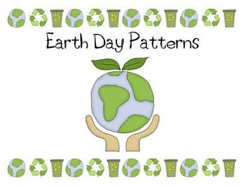 Kindergarten and first grade students can strengthen their patterning skills with this Earth Day patterning activity.  Perfect for use in a math st...