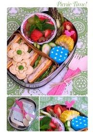 cute picnic idea and school lunches