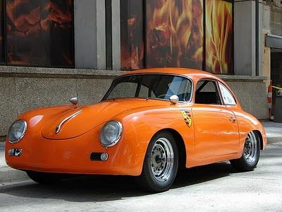 Porsche and in orange