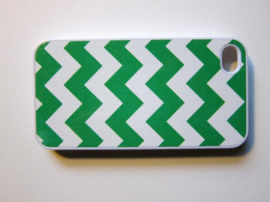 Kelly Green Chevron iPhone Case by whiskeykittens on Etsy, $20.00