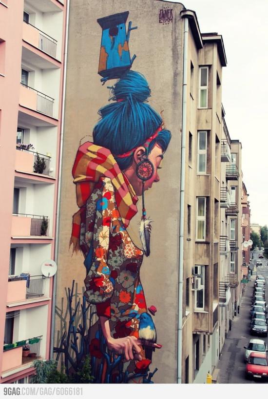 graffiti in Lodz, Poland.