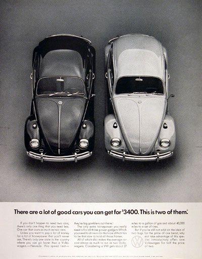 1967 VW Beetle ad