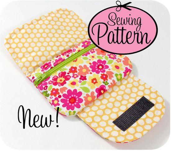 zip pocket pouches pattern $8.00