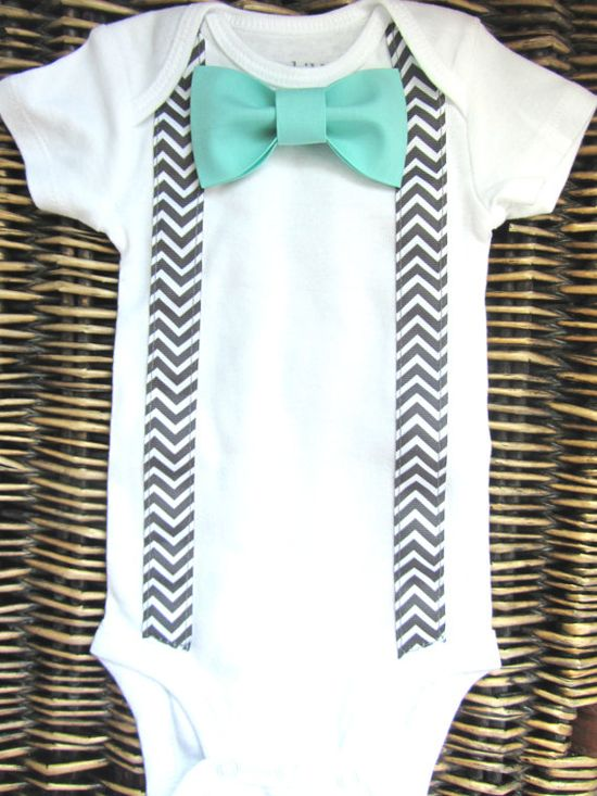 Baby Boy Clothes - Bow Tie Onesie - Tuxedo Onesie - Coming Home Outfit - Chevron Suspenders With Blue Bow Tie - Boys First Birthday - 1st on Etsy, $17.99
