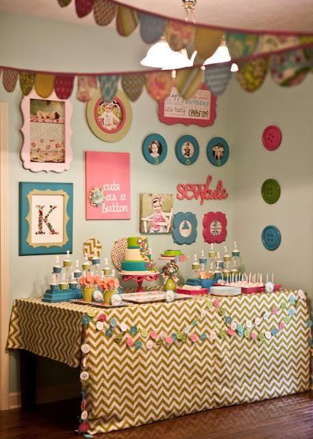 cute as a button bday party