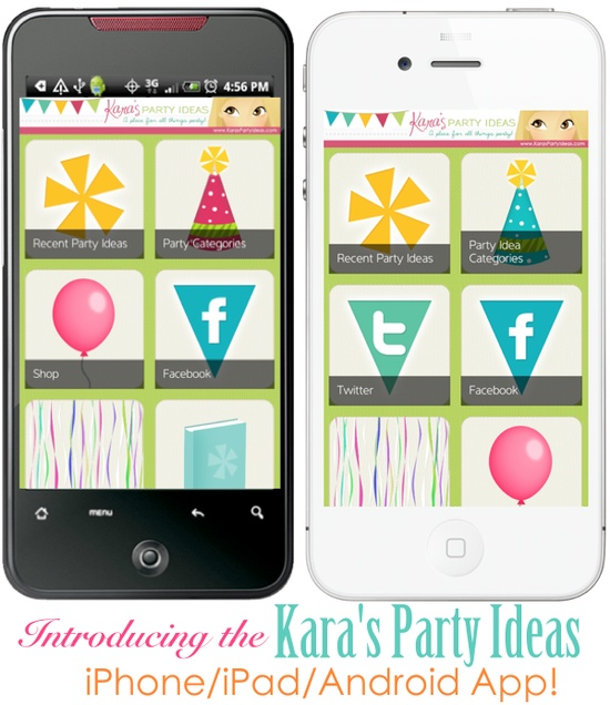 The Kara's Party Ideas iPhone/iPad & Android APP! So many party ideas right at your fingertips! iPhone/iPad App available here: itunes.apple.com/... Android App available here: play.google.com/...