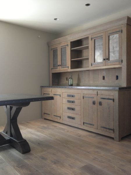 Dining room hutch--rustic modern: benriddering.com/...