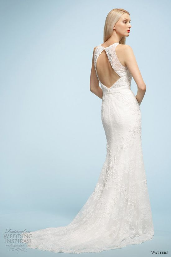 watters wedding dresses spring 2013 sonia sleeveless gown keyhole back