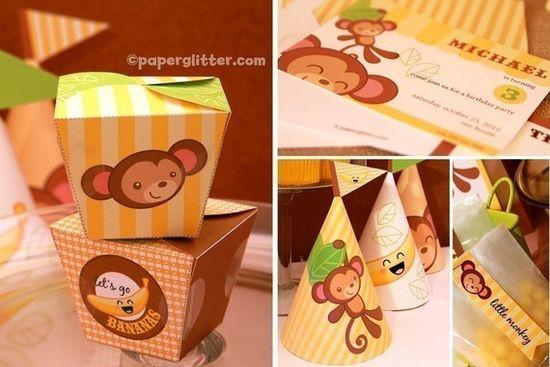 Printable Monkey Party Kit