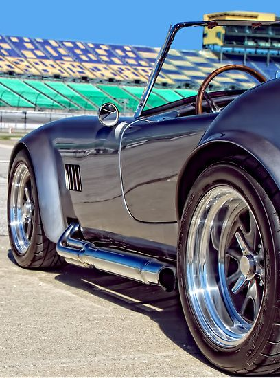 Cobra ... Sweet !!! Pinned this from a board called 'Cars for manly men' ... I guess they never met a country girl ... we drive HOT cars, BIG trucks and ride FAST horses  :)