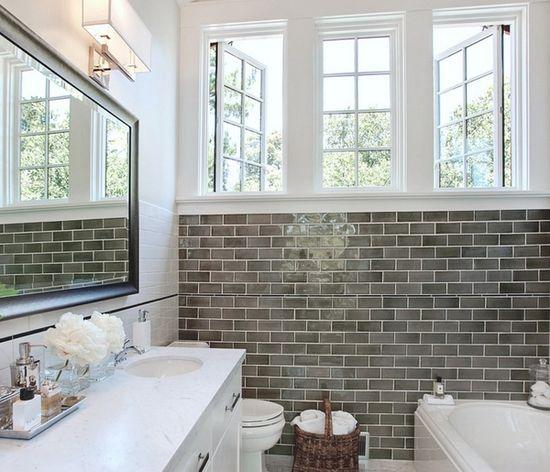 love this bathroom // white + gray