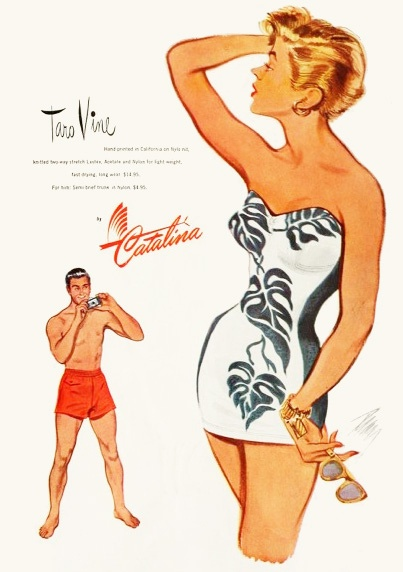 Catalina swimsuit ad, 1950. #vintage #1950s #summer #ads