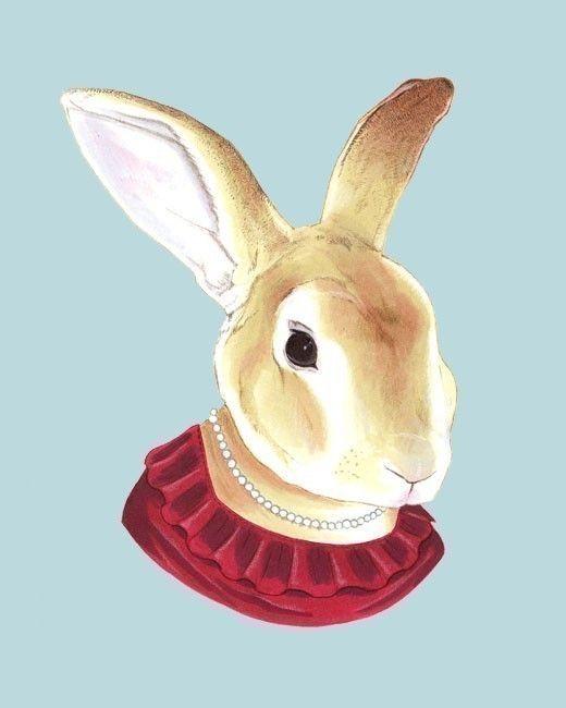 lady rabbit print, by berkley illustration