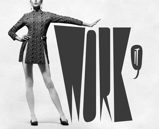 graphic design white black woman