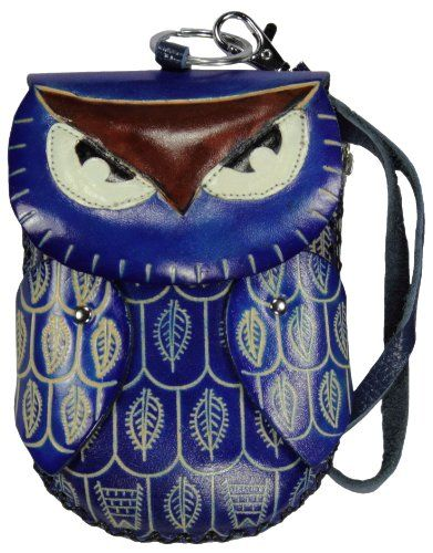 Leather Handmade Craft Animal Owl Wristlet Coin Change Purse Pouch - Listing price: $27.00 Now: $19.95