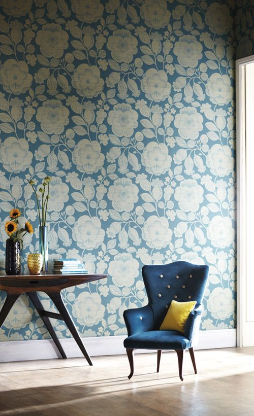 #wallpaper wingback chair