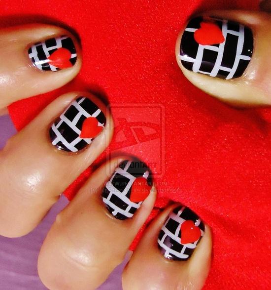 Love Bandit Valentines nail art