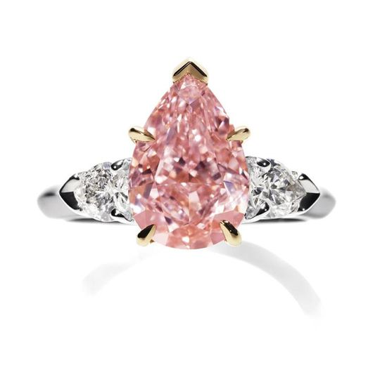 Cartier pink diamond #engagement #ring