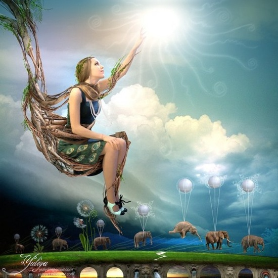 Beautiful and surreal digital artwork on print by @Yuliya $26 #art #digital #painting #wish #star #girl #home #decor #etsyfollow