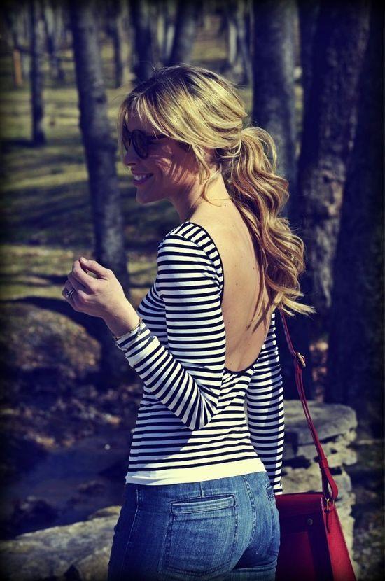 Striped Low Back