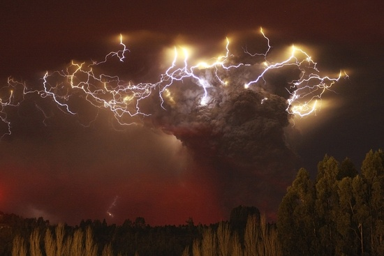 Volcano erupting in Chili. Amazing!
