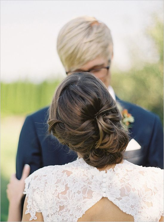 romantic and loose wedding hair