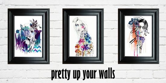 #wallart #illustration #watercolours #home #interiors #artists