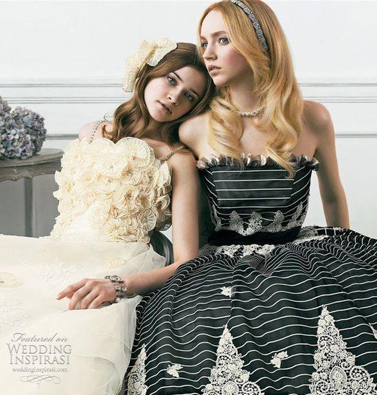 Jill Stuart Wedding Dress Collection 2011  Print & Color Bridal Gowns