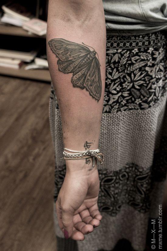 moth tattooo