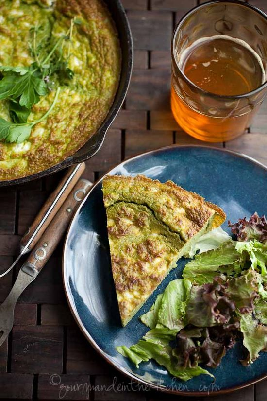 Ricotta Herb Frittata with Feta via @Sylvie