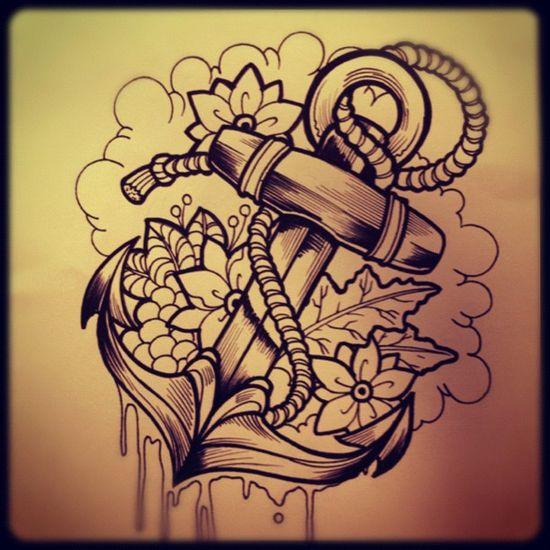 Diseno ancla!!! #anchor #sea #design #tattoo #tatuaje #artist #oldschool #neotradicional #skin #water #ink #akolatronicmed #georgehenaoartist #pen