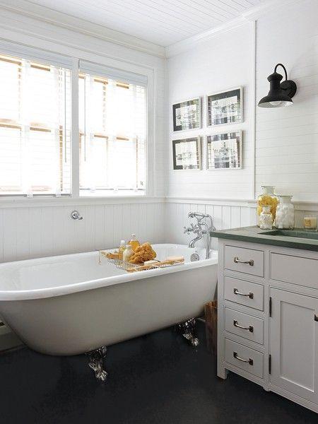 white cottage bath