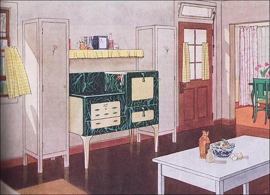 1931 Kitchen with Magic Chef Range