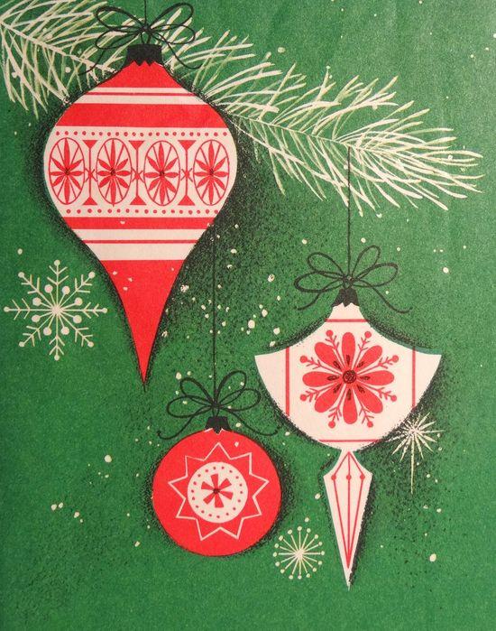 Mid century Christmas graphic design