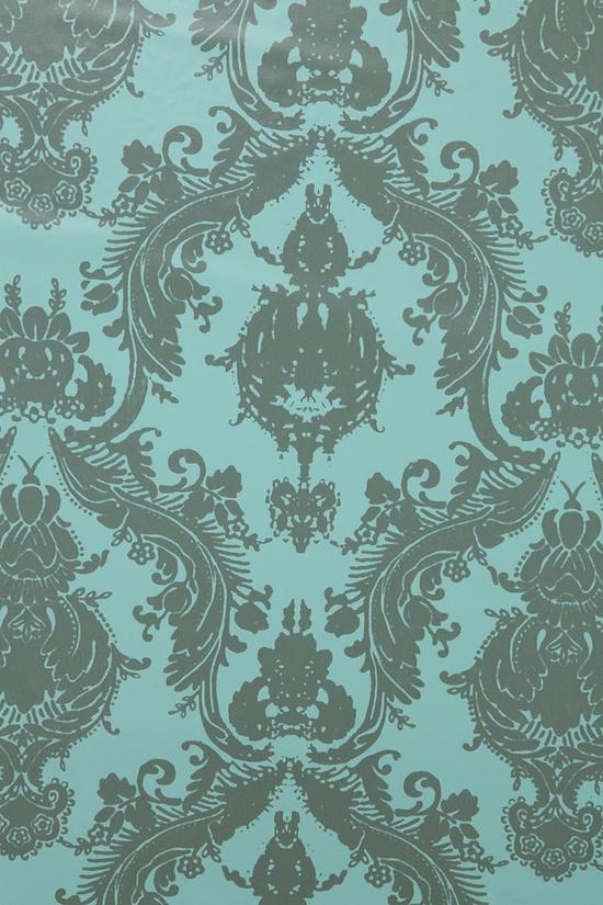 Damsel Wallpaper - Aqua Grey  #UrbanOutfitters