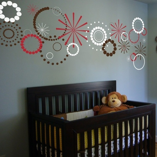Polka Dot Circles and Stars Three Color Set   Vinyl by decalfarm, $35.00