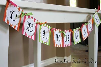 {New in the Shop} Custom Happy Birthday Banners & FREE Celebrate Banner!