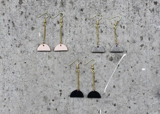 semi circle drop earrings / AMM Jewelry