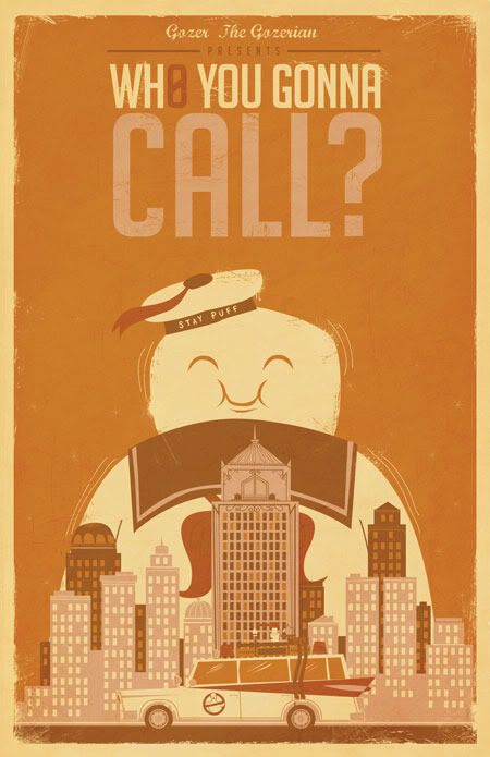 Cool Ghostbusters poster.