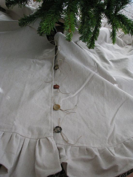Rustic Christmas Tree Skirt by ShabbyFrills on Etsy