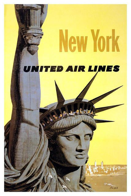 NYC vintage travel poster.