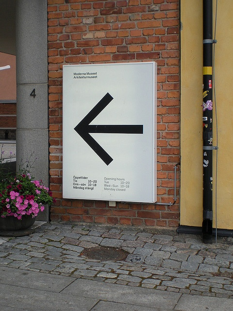 Moderna Museet, Stockholm - signage