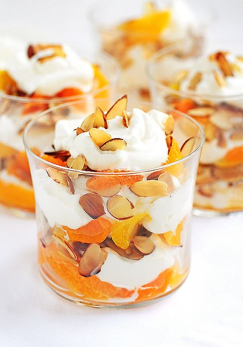 Fruit cream parfait