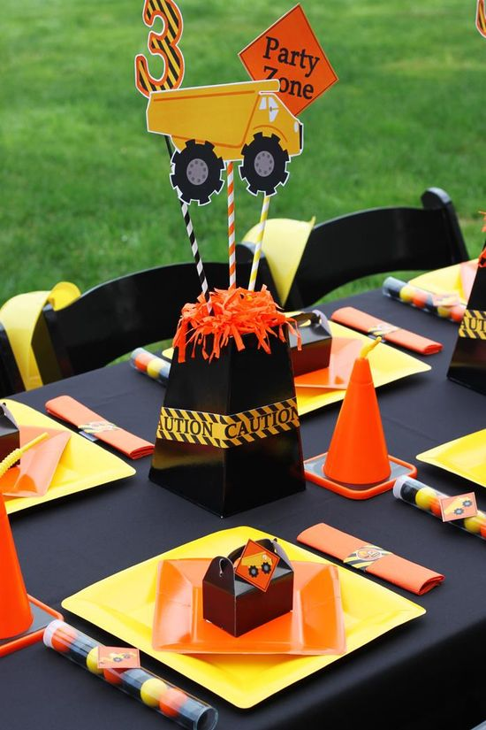 Adorable Construction Themed 3rd Birthday Party with Lots of Awesome Ideas via Kara's Party Ideas