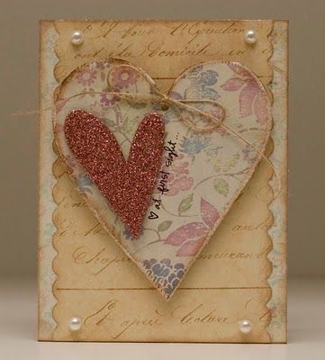 What a sweet little handmade card...