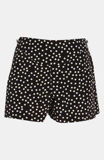 On Sale: Black and White Polka Dot Shorts