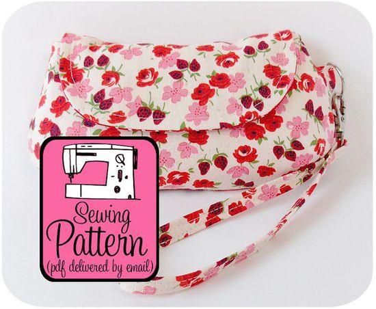 Curvy Clutch Sewing Pattern  Make a Clutch/Wristlet in by keykalou, $8.00